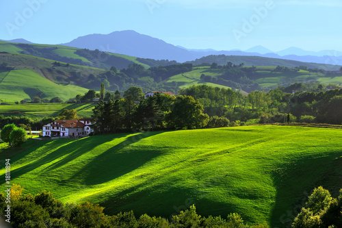 Foto op Canvas Heuvel le pays basque 1
