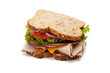 Turkey sandwich on white background - 18113647