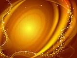 Golden galaxy poster