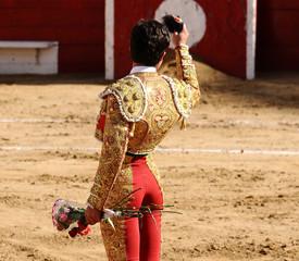 Matador with Flower