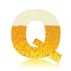 alphabet beer Q