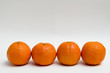 cuatro mandarinas