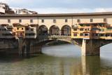 Florence bridge on River Arno poster