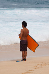 Bodyboarder Looking