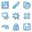 Image viewer web icons set 2, blue contour sticker series