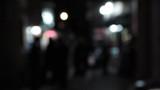 defocus people walking on the street at night great generics 4 poster
