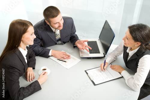 Business team at a meeting
