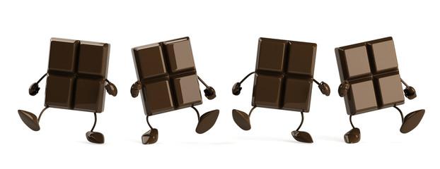 Chocolat en marche
