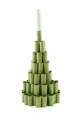 Christmas Tree made of paper rolls