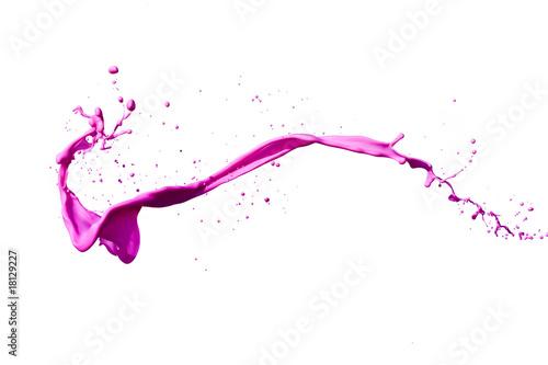 Leinwanddruck Bild pink color splashing