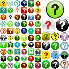 Question vector buttons.