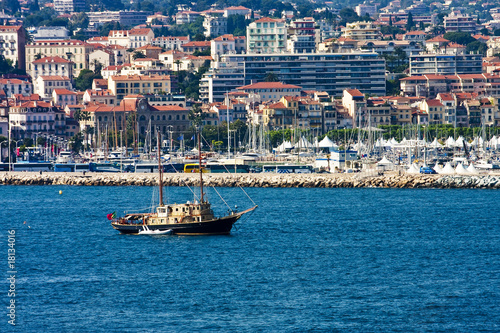 Luxury Schooner on Coast of Cannes