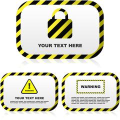 Warning vector banner. Vector set.