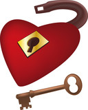 lock from heart of the beloved and a key poster