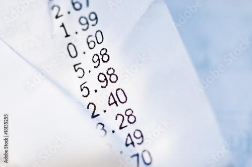 Shop receipt