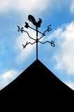 rooftop weather vane silhouette poster