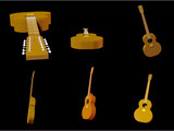 3D render of an acoustic 12-string guitar poster