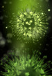 Flu virus concept with bacterias