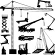 construction crane - vector