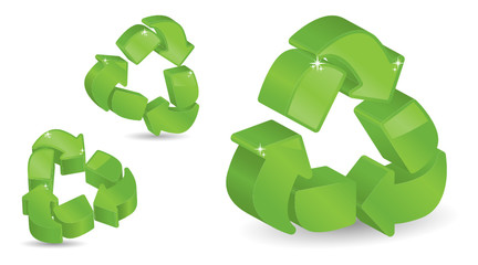 Three-Dimensional Recycling Symbols