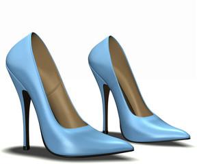 High heel blue