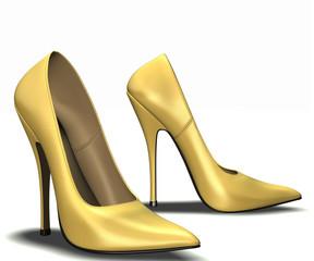 High heel yellow
