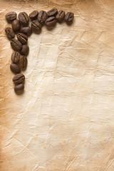 Granos de Cafe y Papel Antiguo