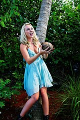 catching a coconut