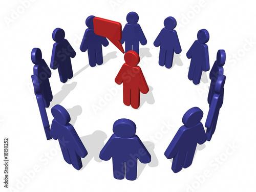 Personas dialogando en círculo
