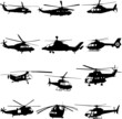 collection of helicopter vector - 18154673