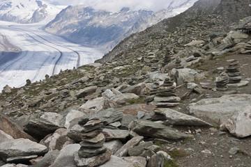 glacier at the Matterhorn in Switzerland