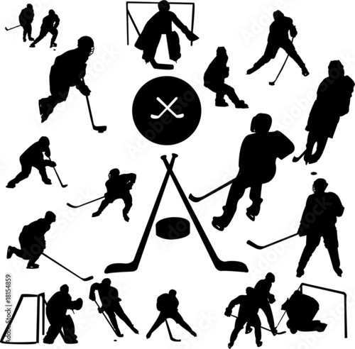 hockey collection - vector