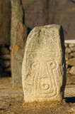 face engraved stone poster