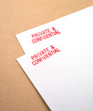 private and confidential letters poster