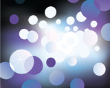 Blurry glittering lights on black backround. VECTOR. poster