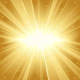 Fototapety Golden light burst with stars