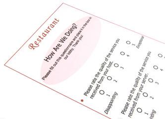 customer survey questionnaire
