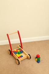 Toy Trolly of Wooden Bricks