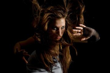 girl the dispersed hair