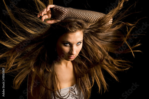 girl the dispersed hair