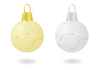 Metallic Christmas Ornaments