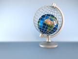 Earth globe in captivity poster