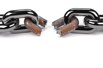 Rusty broken link