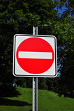 Do not enter, wrong way traffic sign poster