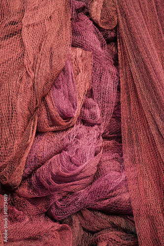 Purple fishing nets