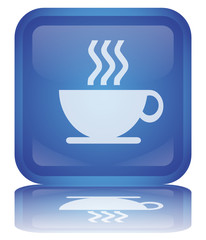 "Bouton ""Pause Café"" -- ""Coffee Break"" Button"