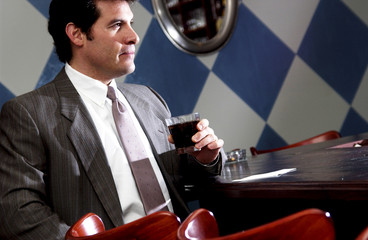 Businessman at restaurant