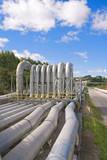 Geothermal power station pipes poster