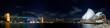 Leinwanddruck Bild - Sydney Night Panorama