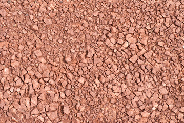 Red Rock Gravel Texture